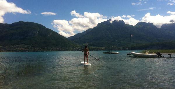 pique nique et stand up paddle au bord du lac