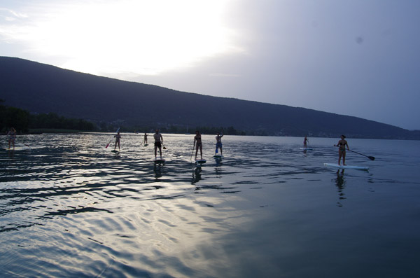 rando after work en stand up paddle sur le lac d'Annecy