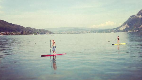 traversée du lac d'Annecy en stand up paddle