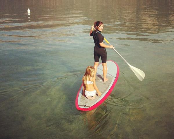 dimanche BBQ stand up paddle sur le lac !
