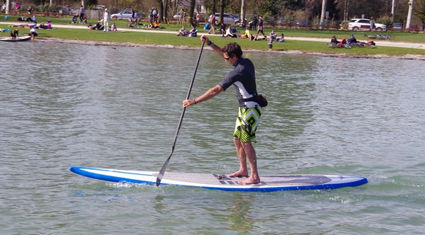 test stand up paddle race