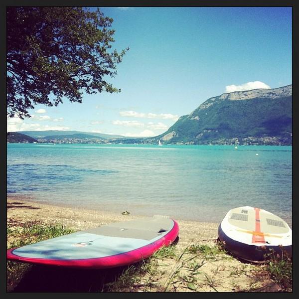 belles conditions sur le lac d'Annecy