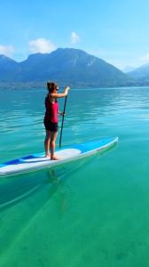 Lac d'Annecy parfait pour le stand up paddle