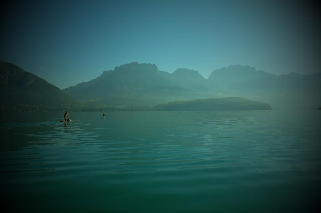 été indien sur le lac d'Annecy