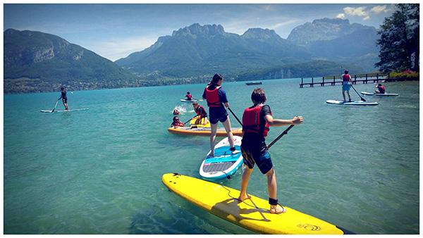 Canicule sur le lac d'Annecy