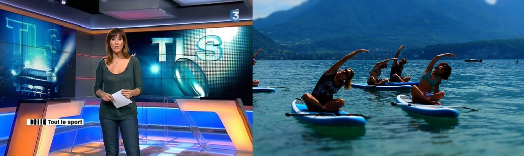 Reportage Tout le Sport sur le Paddle Yoga et Fitness Paddle