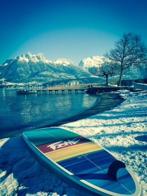stand up paddle hiver annecy F-one