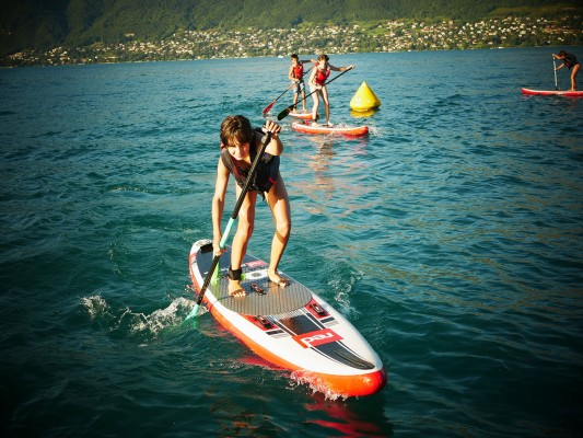 course de stand up paddle enfant