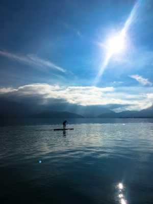 paddle hors saison lac d'Annecy